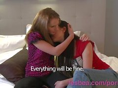 Lesbea HD Experienced lesbian shares hairy pussy with busty teen girlfriend