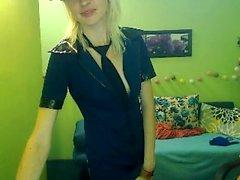 Pretty Russian Blonde Masturbation