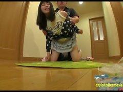 Hoshino Yuzuki Ambushed At Home Fucked On Hallway Floor Perfect Shaved Puss