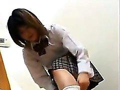 Söpö japanilainen Koulutytön POV
