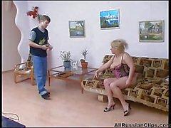 Russian Mature Rosemary Fucked On Sofa