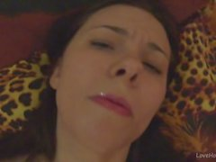 Klara films her face while cumming