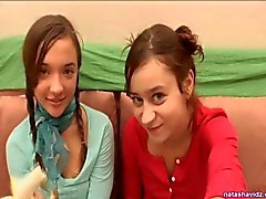 Lezbiyen gençler Natasha ve Mary