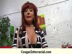 Interracial cougar hard sex 23