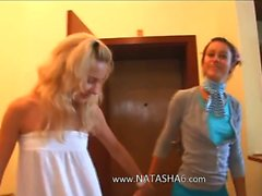 Love and russian licking between schoolgirls