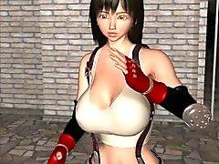 L'esclave hentai 3D des tentacules te suce en