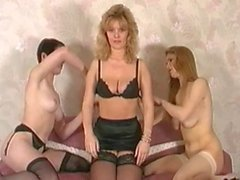 British classic lesbian threesome
