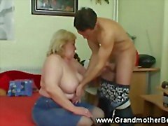 Grandmother hungry for cock