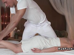 Pierced cunt babe gets massage nuru erotic