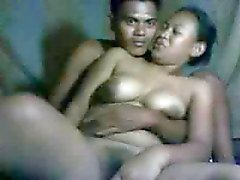 filipina girl getting her boobs played with by her bf