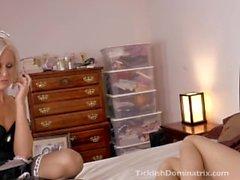 SAsha tickled by maid