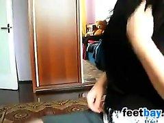 Сексуальные ноги и ног , рассматриваемые в чулках