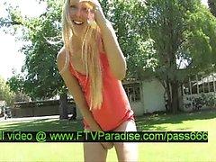 Liz amazing naked blonde babe in public