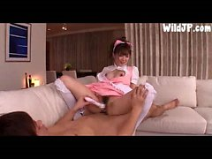 Japan Maid Babe Has A Very Wet Pussy