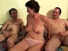 Mom has always desired a threesome with boys