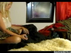 Fucking a busty blonde milf on hidden cam
