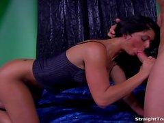Taryn Thomas Swallows Cum After Hard Butthole Fuck