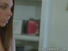 Lovely College Amateur Girls Face Off At Hazing Party