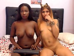 Beautiful ebony in strapon makes hot black gf rides