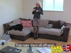 FakeAgentUK British glamour model does anal