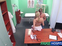 FakeHospital Stud cums all over nurses stomach
