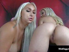 Big Butt Duo Nina Kayy & Cristi Ann Show Off Asses