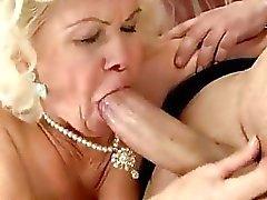 Horny old slut fucking like crazy