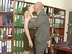 Große Brüste Büro Sex.