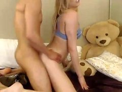 Horny European babe doing anal