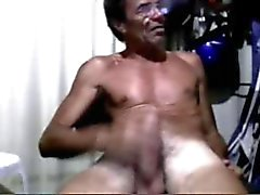 Cute girl and old man in webcam 2