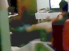 Horny str8 roommate caught wanking spy jerker