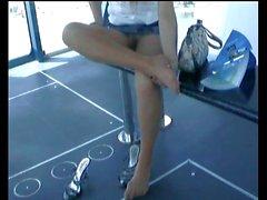 Amateur girl thaïlandaise les collants ( pas de culotte )