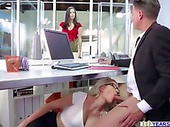 Sultry secretary Gigi Allens office fuck