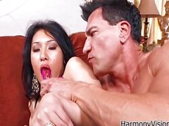 Asian babe goes anal and loves it
