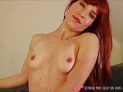 French Goddess tease and self pleasure - Dildo suck