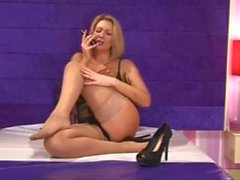 BS Leigh Darby Stocking Fuß Tease und Big Tits