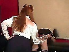 Punishment Loving Chick In Seductive Spanking Mature