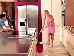 Beautiful Gina catches step mom playing big cock