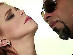 Isla redhead smooth camel toe pussy licks hard by BBC lover