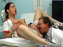 Pretty Nurse Rides Cock