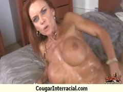 Cougar fucks a huge black monster cock 30