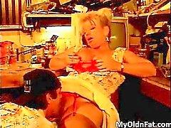 Hot big boobed blonde MILF slut sucking part3
