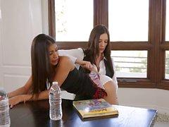 Veronicas Rodriguez samt hon elev Jelena Jensens