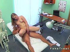 Russian female patient fucked by doctor in fake hospital