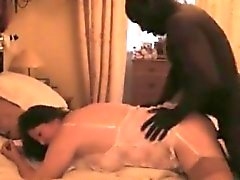 Sexy black man raging limited vagina of brunette slut in