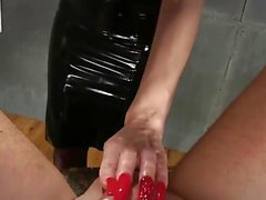 Sounding by Femdomlady black Latexskirt