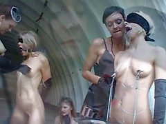Latex and lesbian BDSM