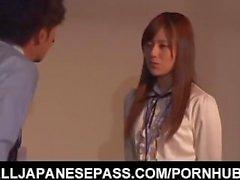 Rina Rukawa is fucked by hunks at job
