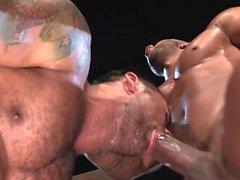 Muscle bear anal sex com cum facial