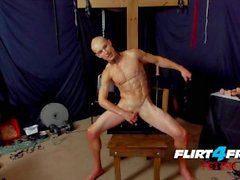 Flirt4Free Fetish Flogger Stud Hoss Kado Tortures His Nipples and Ass